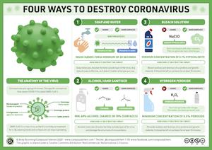 4 ways to destroy coronavirus