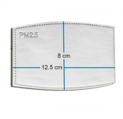Dimensions d'un filtre PM2.5 pour masque respiratoire