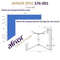 Comment coudre, fabriquer le masque AFNOR en tissu