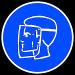 Logo masque visière obligatoire