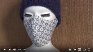 Masque de protection respiratoire selon un patron revu par Perrine