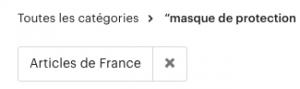 Masque de protection fabriqué en France