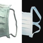 Bretelles et élastiques pour maintenir un masque chirurgical